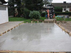 Betonarbeiten Terrasse CB Gardens